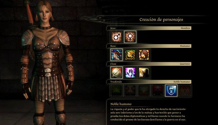 Consejos Dragon Age: Origins creación
